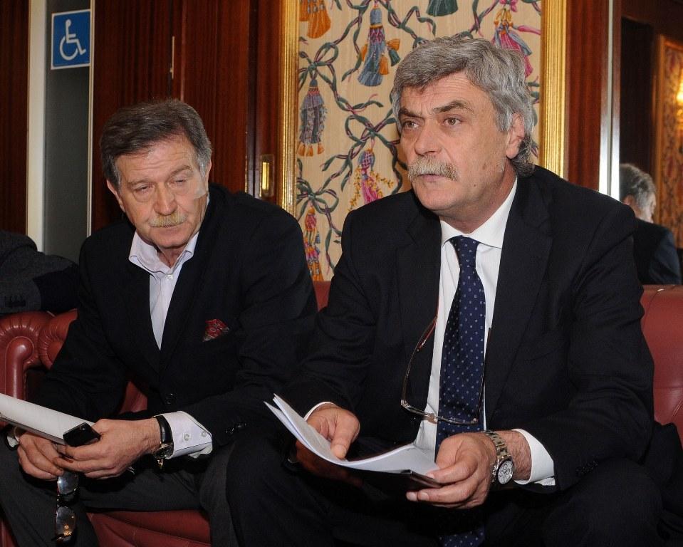 Maurizio Mosca con l'ex assessore Giovanni Di Geronimo