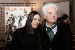 Paola Turci con il patron di Musicultura Piero Cesanelli