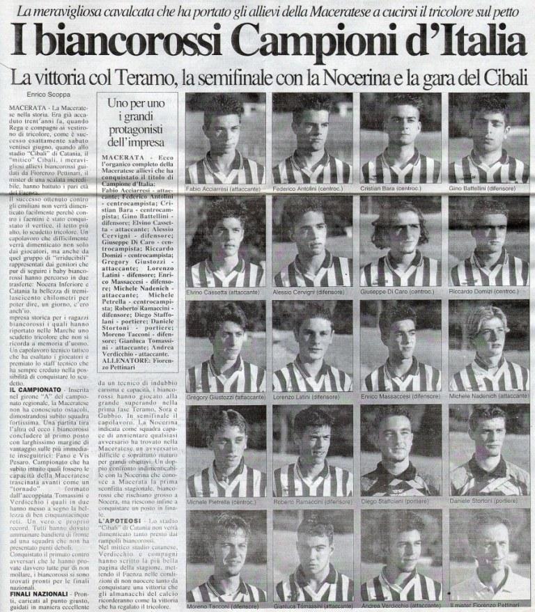 Maceratese Campione d'Italia 2