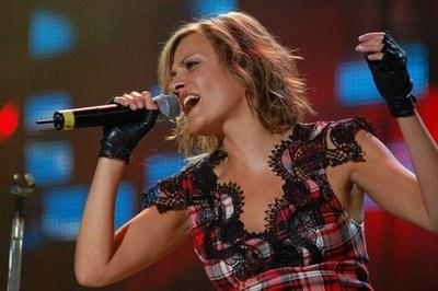 La cantante pop Irene Grandi