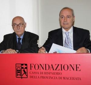 Il presidente Franco Gazzani (a destra) con il compianto Roberto Massi