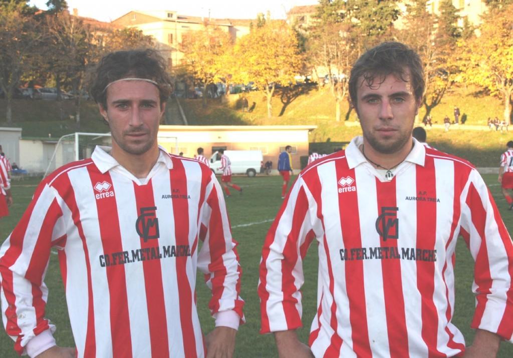 I gemelli Diego e Sergio Fraticelli dellAurora Treia