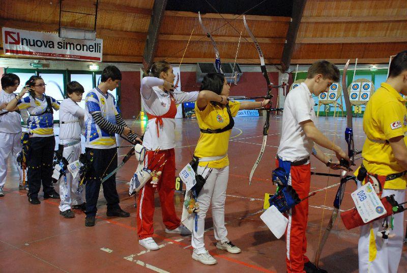 Arcieri durante la competizione