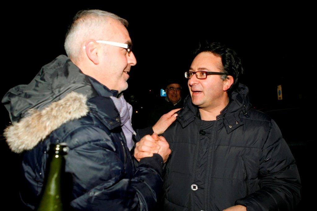 Romano Carancini e Massimiliano Bianchini dopo le primarie