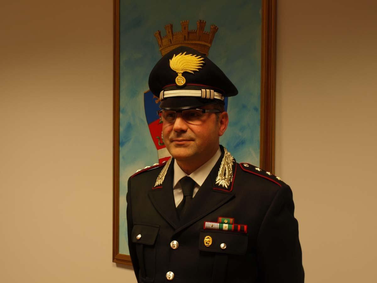Il capitano Cosimo Lamusta, comandante dei carabinieri di Tolentino