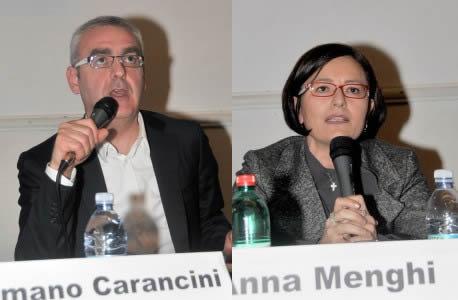 Romano Carancini e Anna Menghi durante la campagna elettorale del 2010