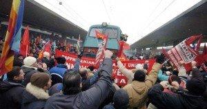 Una manifestazione di protesta dello scorso anno dei lavoratori