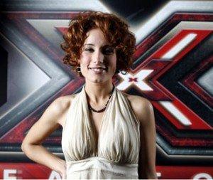 Serena Abrami durante l'esperienza a X Factor