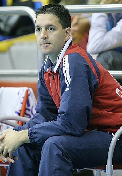 Il fisioterapista della Lube David Diaz Cueli