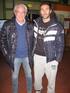 La-punta-Gabriele-Bonsignore-ed-il-ds-Agostinelli-fotografati-allaeroporto-Ridolfi-di-Forlì