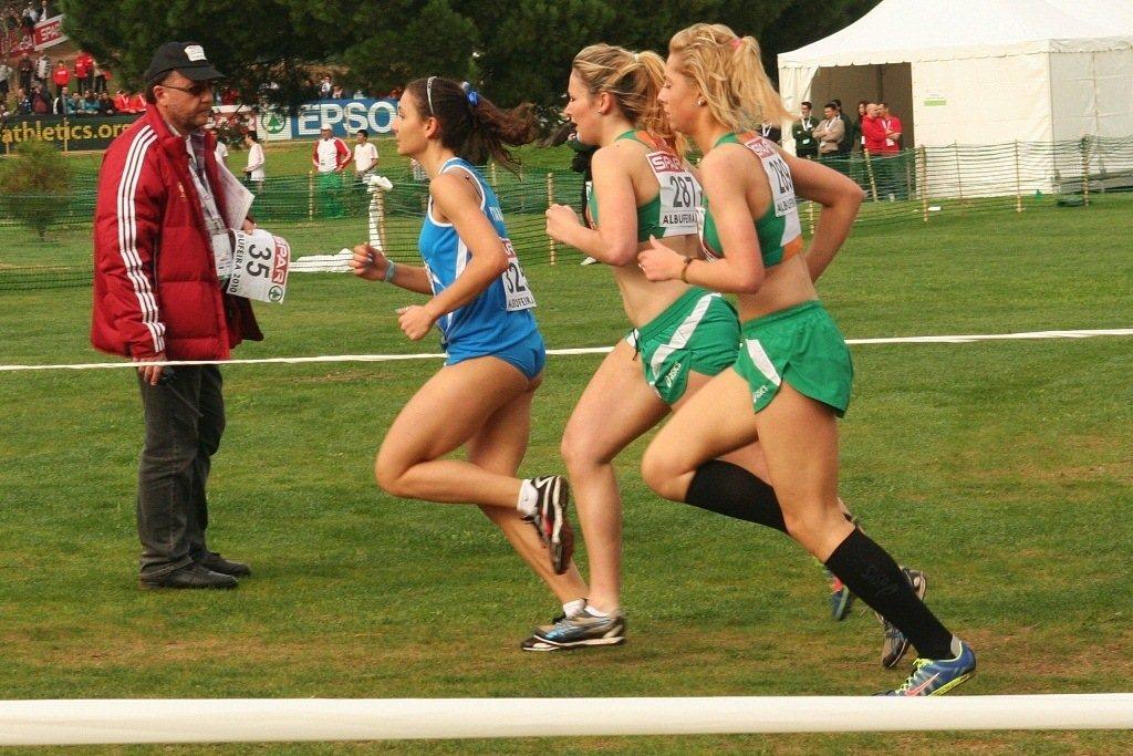 Alessia Pistilli in una recente gara dei campionati di corsa campestre
