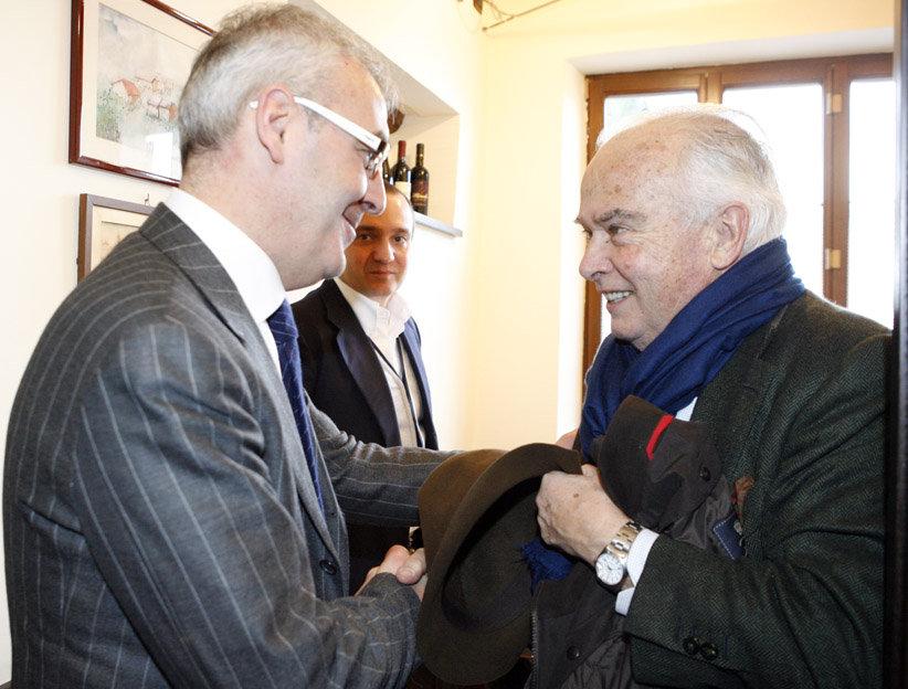 Il sindaco Romano Carancini con Riccardo Garrone