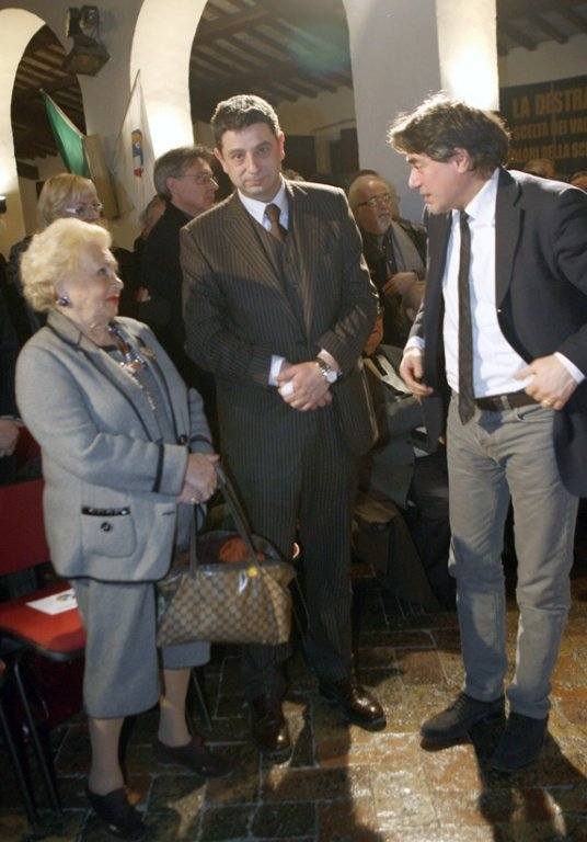 Donna Assunta Almirante durante una recente visita a Macerata