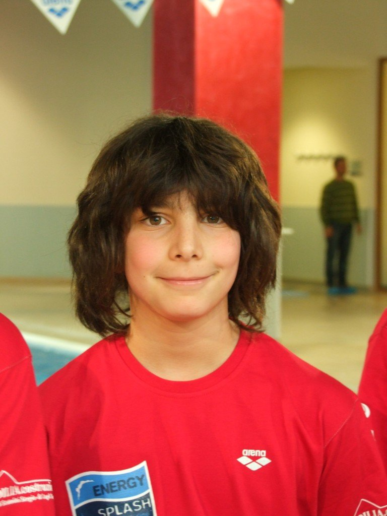 Il giovane nuotatore Luca Pasqualini