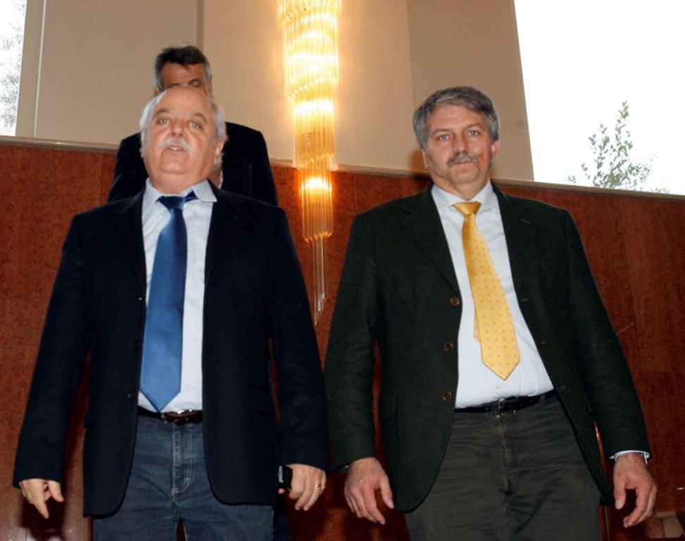 Il presidente della Provincia Antonio Pettinari con l'assessore Leonardo Lippi