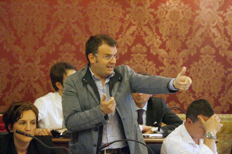Riccardo Sacchi in Consiglio comunale