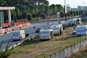 Roulotte dei Rom a Civitanova