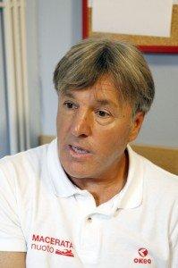 Il presidente della Macerata Nuoto Alfredo Camilloni