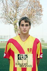 Il giocatore della Recanatese Federico Palmieri