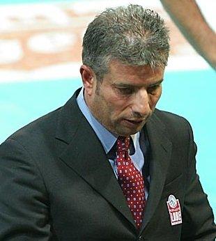 Il coach dei biancorossi Gianni Rosichini