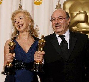Francesca Lo Schiavo e Dante Ferretti, vincitori di tre premi Oscar per la scenografia