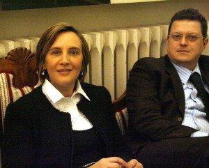 Deborah Pantana e Claudio Carbonari, consigliere di Fratelli d'Italia