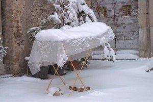 Lo stendino per asciugare la neve , Macerata - di Roberto Cherubini