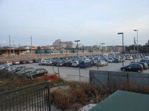 L'area adibita a parcheggio