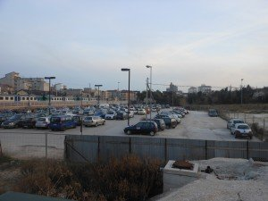 Il parcheggio attualmente in uso