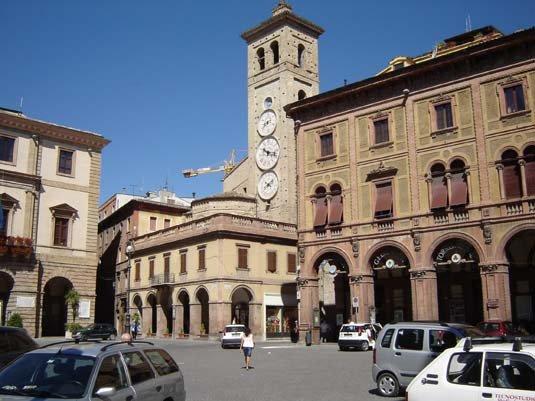 Piazza della Libertà a Tolentino