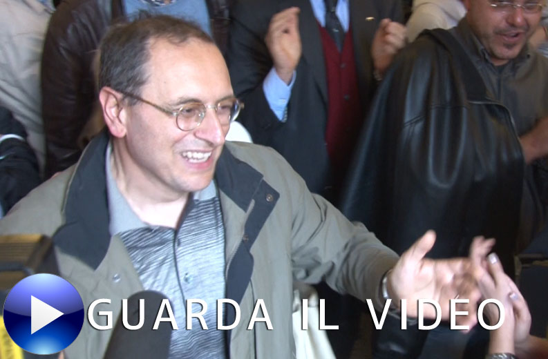 Corvatta festeggia la vittoria al ballottaggio (Clicca sull'immagine per guardare il video)