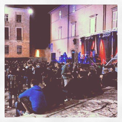 Un concerto durante la Festa dell'Europa 2012