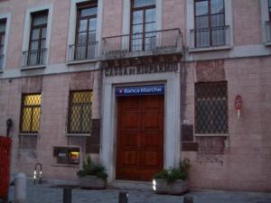 La sede centrale della Banca delle Marche a Macerata