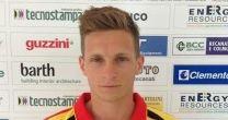 Il centrocampista della Recanatese Roberto iacoponi