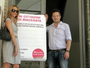 I consiglieri Francesca D'Alessandro e Fabrizio Nascimbeni