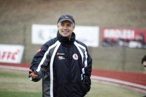 L'allenatore della Settempeda Ermanno Carassai