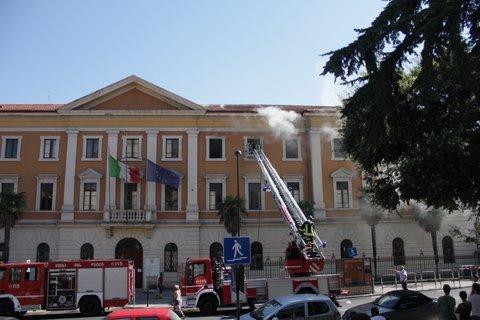 L'incendio all'ufficio urbanistica dell'estate 2012