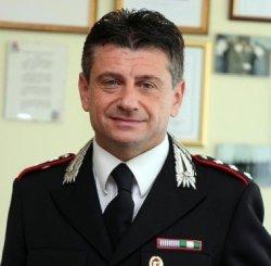 Il capitano Vincenzo Orlando, comandante della Compagnia dei carabinieri di Camerino