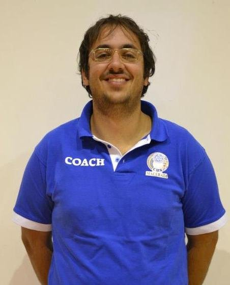 Coach Matteo Palmioli del Cus Macerata