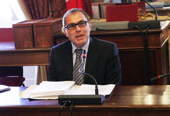 L'assessore al Bilancio, Marco Blunno.