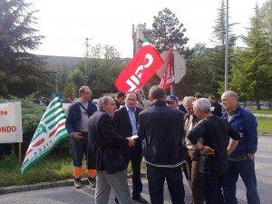 Lo sciopero alla Sacci dello scorso ottobre