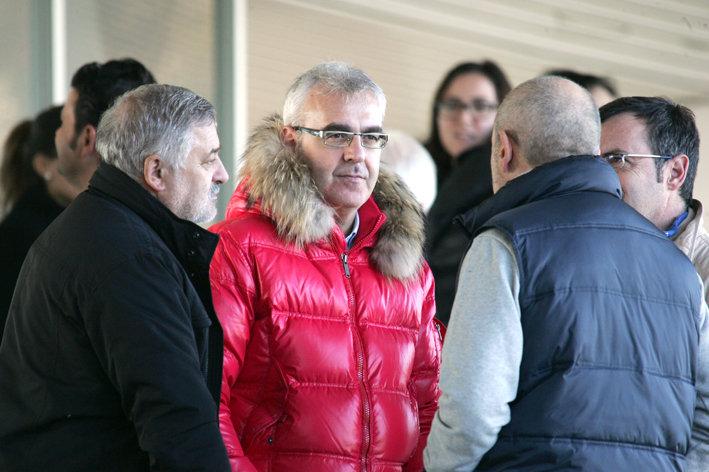 Il sindaco Carancini sugli spalti dell'Helvia Recina
