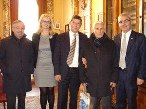 L'incontro in Comune con Franco Marini