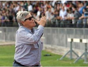 La presidente della Maceratese Maria Francesca Tardella allo stadio Helvia Recina