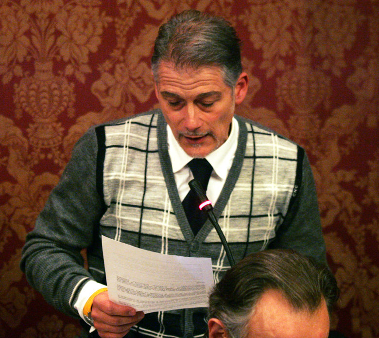 Il consigliere comunale Marco Gasparrini