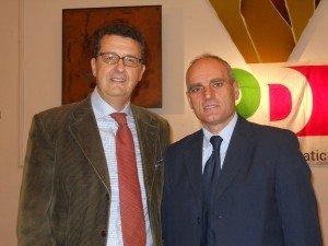 """Il segretario Paolo Micozzi e Romeo Renis del """"Pd nuovo corso"""""""