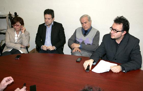 Da sinistra: Anna Menghi, Fabrizio Nascimbeni, Giorgio Ballesi,e Massimiliano Bianchini