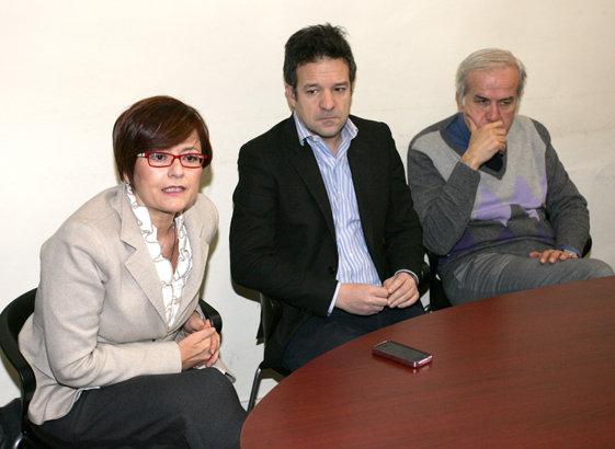 Da sinistra Anna Menghi, Fabrizio Nascimbeni e Giorgio Ballesi