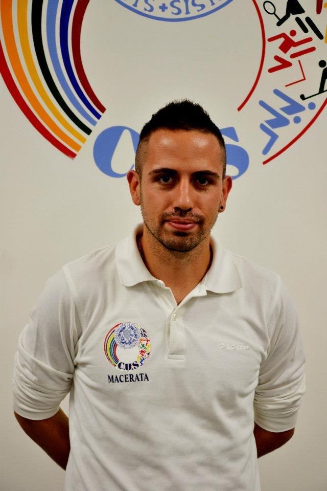 Tommaso Bacosi, allenatore del Cus Macerata