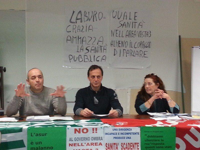 Una conferenza stampa delle sigle sindacali di Macerata